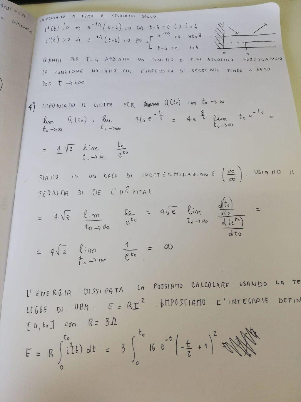 Simulazione Maturità 2019 scientifico problema 4