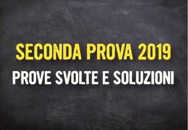 soluzioni seconda prova maturità 2019